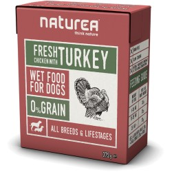 NATUREA - WET FOOD 375 GR KIP & KALKOEN ADULT